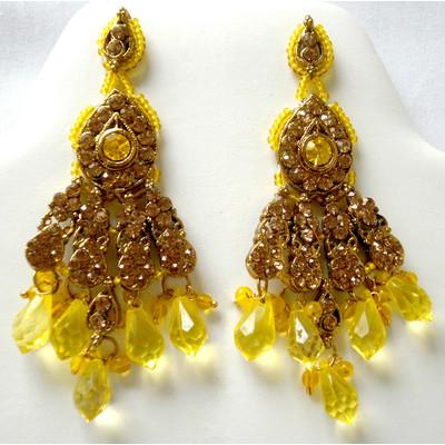 Elegant Flare Earrings - Yellow + FREE Gift