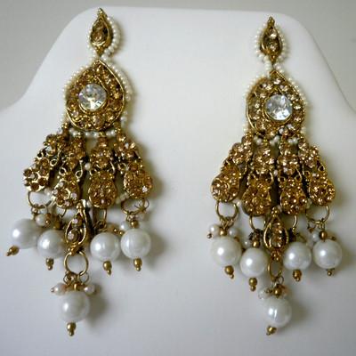 Elegant Flare Earrings - White + FREE Gift