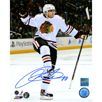 Patrick Kane Autographed 8X10 Photo (Celebrating)