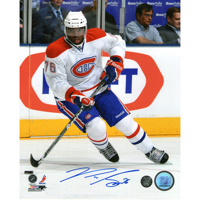 P.K. Subban Autographed 8X10 Photo