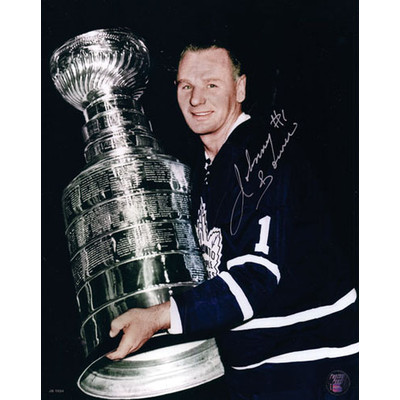 Johnny Bower Autographed 8X10 Photo (w/Cup)