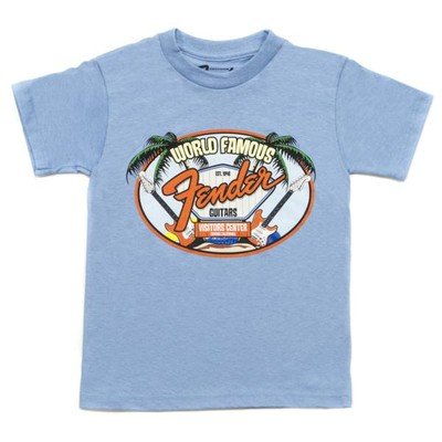 Fender World Famous Visitor's Center Youth T-Shirt - Light Blue, 2 Years, XS - Fender - 910-2001-306