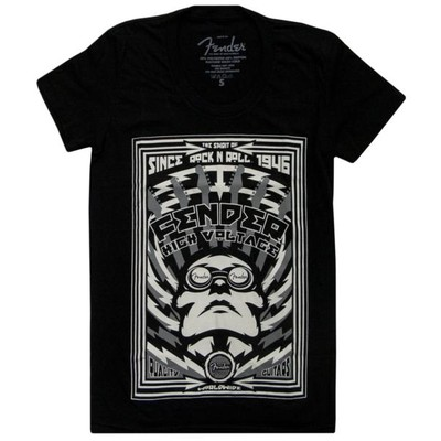 Fender High Voltage T-Shirt - Black, Woman's Small - Fender - 910-2207-306