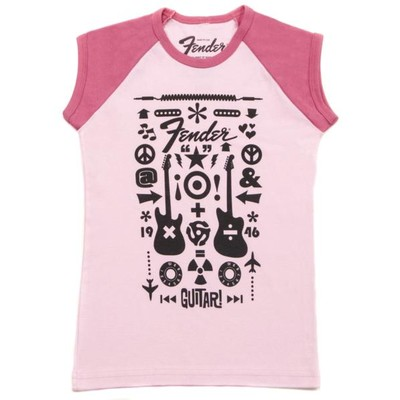 Fender Guitar Formula Youth T-Shirt - Pink, 6-7 Years - Fender - 910-3080-306