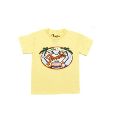 Fender World Famous Visitor's Center Youth T-Shirt - Yellow, 6 Years, Medium - Fender - 910-5002-506