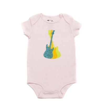 Fender Guitar Trio Girl's Onesie - Pink, 18 Months - Fender - 910-5005-506