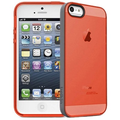Belkin Grip Candy Sheer Case for iPhone 5/ 5S (Orange-Grey)