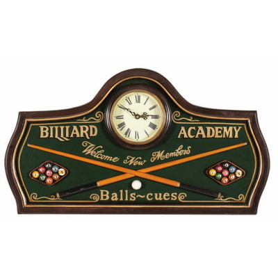 Pub Sign - Billiard Academy - Clock
