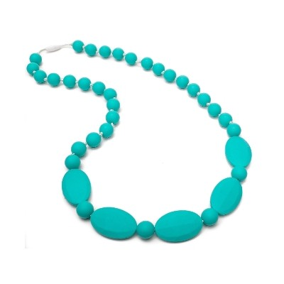 Always Chic Teething Necklace - Turquoise