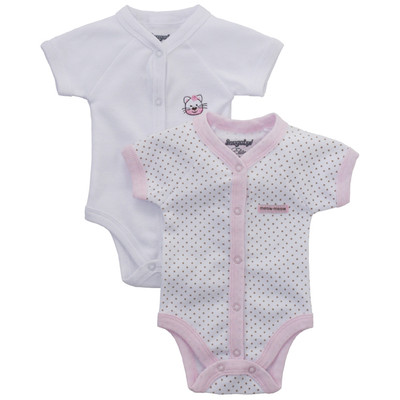 Baby girl onesies  - Kitty Detail and Dot Print