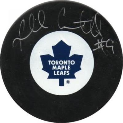 Russ Courtnall Autographed Puck (Tor)
