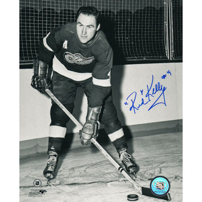 Red Kelly Autographed 8X10 Photo (Det)