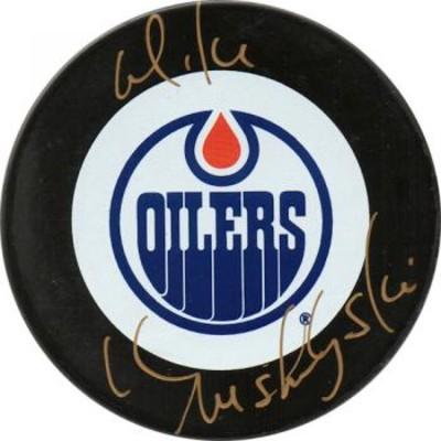 Mike Krushelnyski Autographed Puck (Edm)