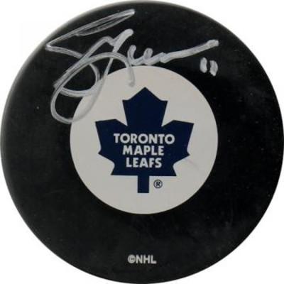 Gary Leeman Autographed Puck (Tor)