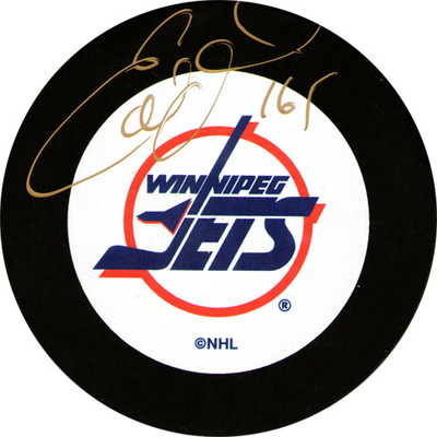 Ed Olczyk Autographed Puck (Wpg)