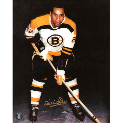 Willie O'Ree Autographed 8X10 Photo (Photo 2)