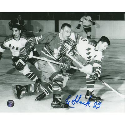 Eddie Shack Autographed 8X10 Photo (vs. NYR)