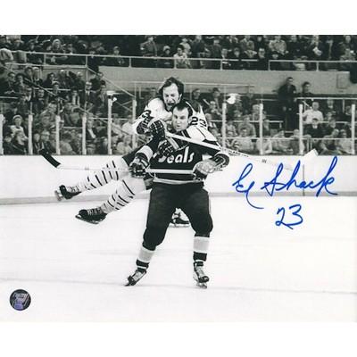 Eddie Shack Autographed 8X10 Photo (w/Ehman)