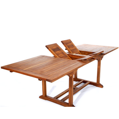 8ft Teak Patio Extension Table