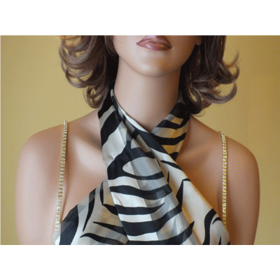 Sexy Bra Straps - Gold and Silver Stripe Pattern