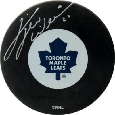 Dave Tiger Williams Autographed Puck