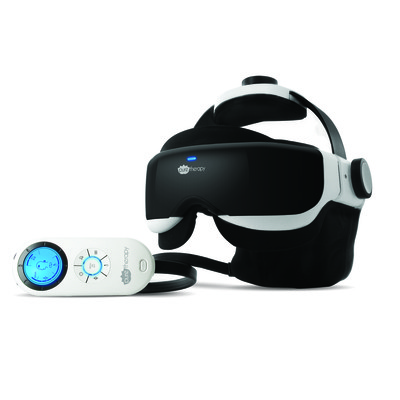 Pure Therapy Head & Eye Massager with Tension Relief Acupressure, Vibration, Heat Compression & Soothing Music (42000)