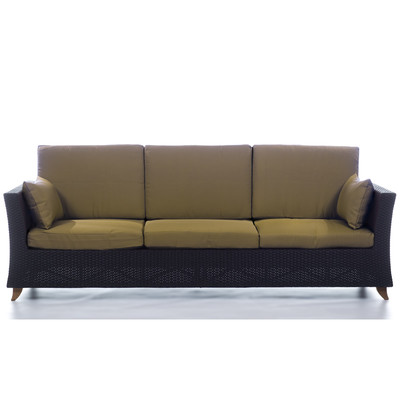 RATTAN  8 Ft. SOFA with Golden Khaki cushion