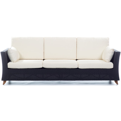 RATTAN  8 Ft. SOFA with White cushion