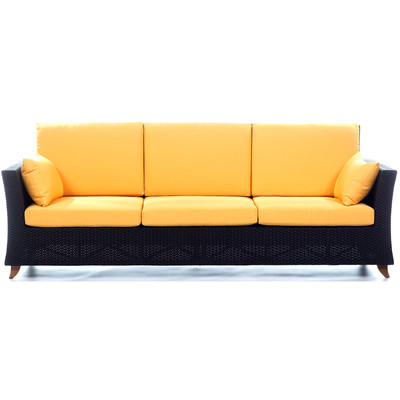 RATTAN  8 Ft. SOFA with Yellow cushion