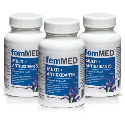 femMED Multi + Antioxidants 3 pk (3 x 60 vegetable capsules)