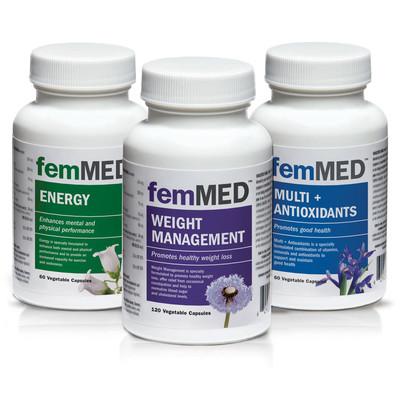 femMED Weight + Energy + Multi (60 + 120 +60 vegetable  capsules)