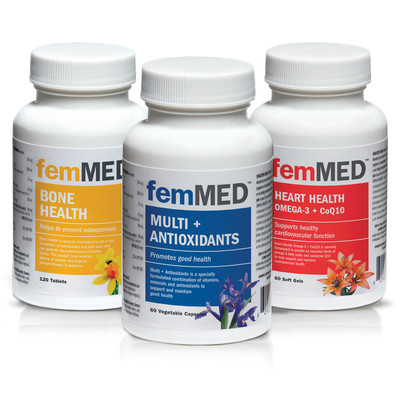 Bone + Multi + Heart 3 pk (120 tablets + 60 +60 vegetable capsules)