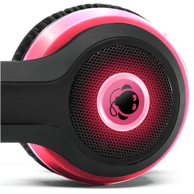 Boomphones Phantom - Matte Black with Pink