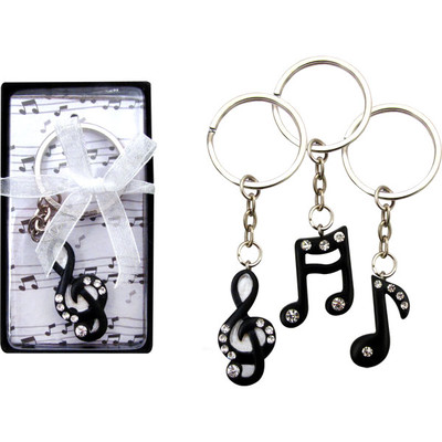 Music Keychain with Rhinestones - Aim - K4115