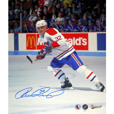 Claude Lemieux Autographed 8X10 Photograph - Montreal Canadiens (Action)