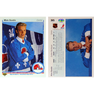Mats Sundin Upper Deck Rookie Card (1990) - Quebec Nordiques