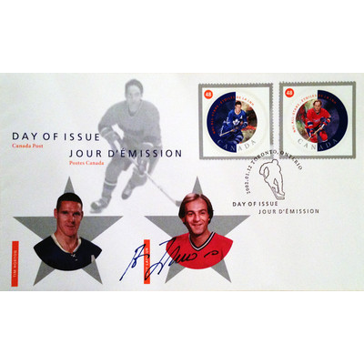 Day of Issue Stamps Horton & Lafleur - Autographed By Guy Lafleur