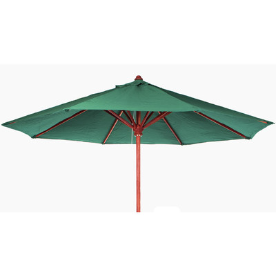 TEAK Market Table Umbrella - green canopy