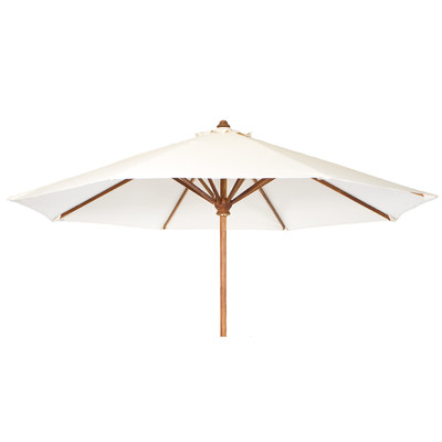 TEAK Market Table Umbrella - white canopy