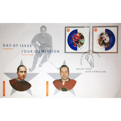 Day of Issue Stamps 2002 Glenn Hall and Howie Morenz