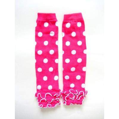 Legwarmers - Hot Pink & White Dots