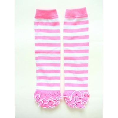 Legwarmers - Soft Pink Stripes