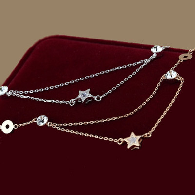 18K Gold Plated Double Chain Anklet