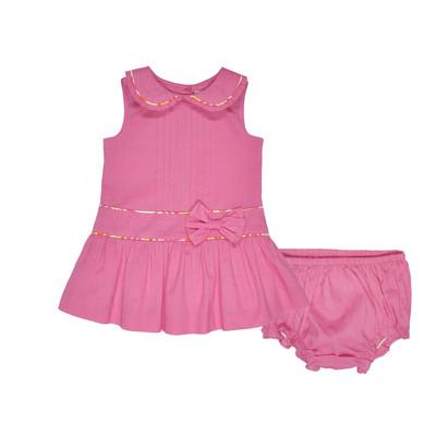 Hyesmine Infant Lawn Dress w/ Panty in Fuchsia