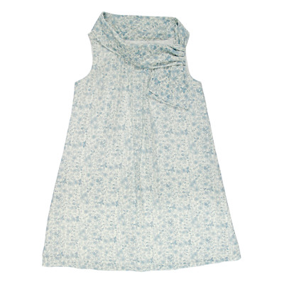 Irenea Casual Dotted Crosshatch Dress /Flowers in Blue