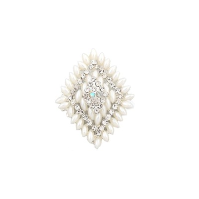 White Diamonds pearl brooch with crystals
