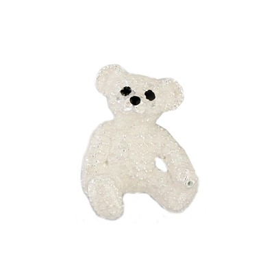 Trasparent white Teddy bear brooch
