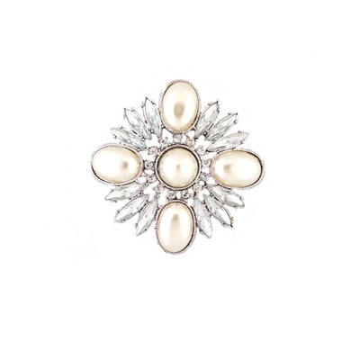 Crystals and pearls Brooch