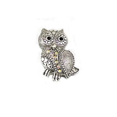 Elegant Owl Brooch