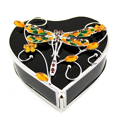 Heart Shape Glass Jew Box